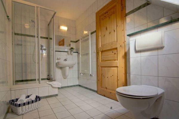 Bad vom Ferienappartement im Haus Seeblick in Binz auf der Insel Rügen