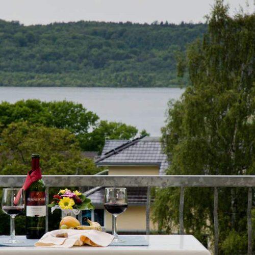 Blick vom Balkon des Apartments Haus Seeblick im Ostseebad Binz auf Rügen