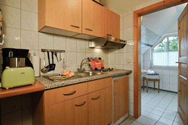Küche des Apartments vom Haus Seeblick im Ostseebad Binz auf Rügen