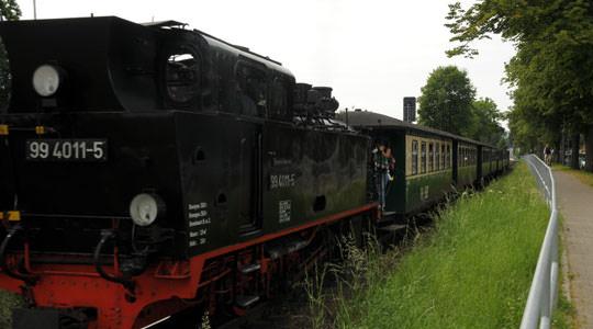 Schmalspurbahn Rasender Roland auf der Insel Rügen