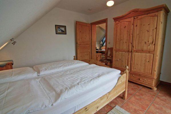 Schlafzimmer des Apartments vom Haus Seeblick im Ostseebad Binz auf Rügen