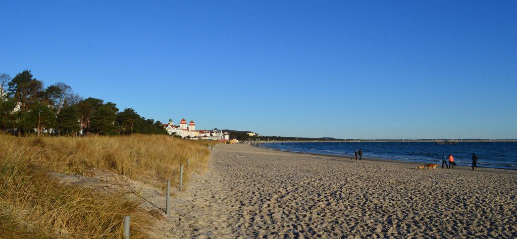 Strand im Ostseebad Binz auf der Insel Rügen
