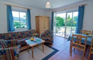 Wohnzimmer Appartement vom Haus Seeblick im Ostseebad Binz auf Rügen