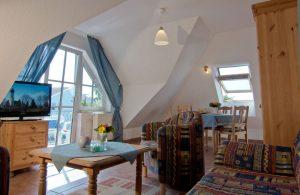 Schlafzimmer vom Ferienapartment im Haus Seeblick in Binz auf der Insel Rügen
